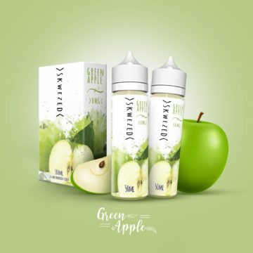 Skwezed GREEN APPLE 2x50ml OVERDOSED Liquid Skwezed Liquids