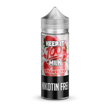 STRAWBERRY MILK 100ml E-Liquid – KEEP IT 100 Keep it 100