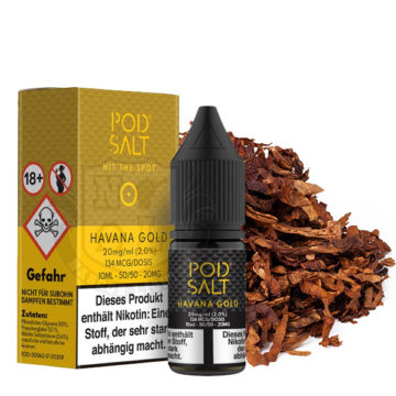 POD SALT Havana Gold 10ml mit 20mg Nikotin POD SALT