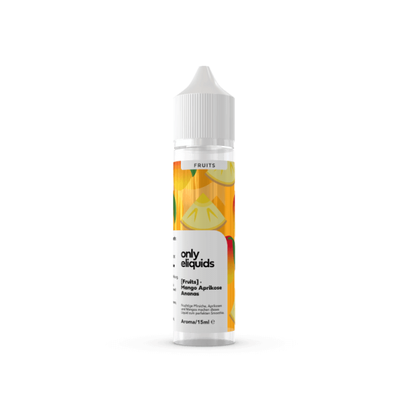 Mango Ananas Aprikose Aroma 15 ml – Only Fruits Only Eliquids